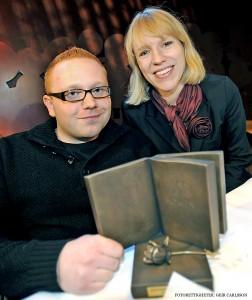 2010. Daværende kulturminister Anniken Huitfeldt overrakte Bokhandlerprisen. (Foto: Geir Carlsson.)